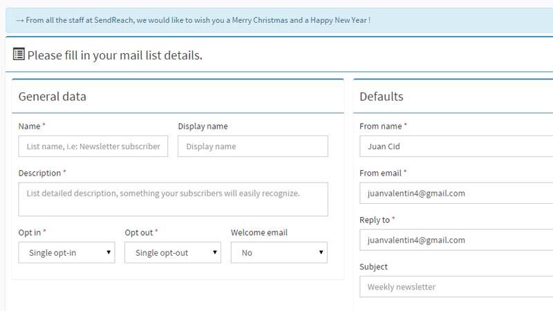 Detalles Lista de Email